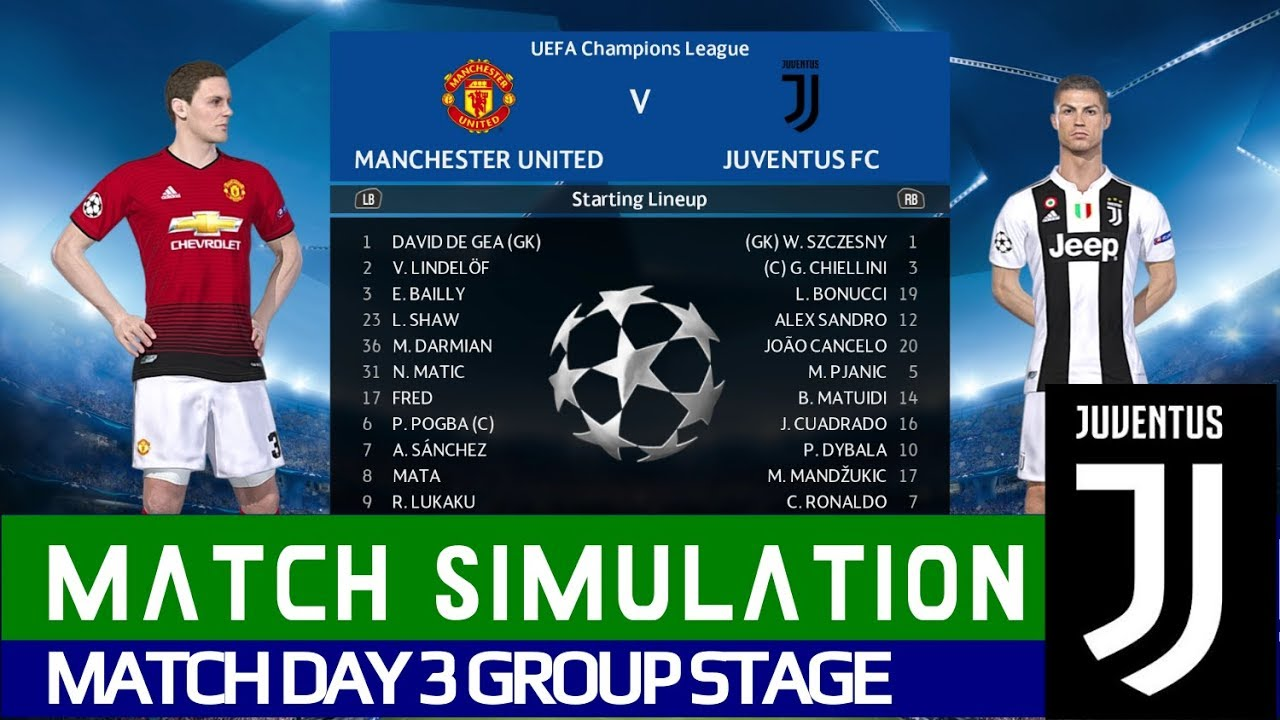 Manchester United Vs Juventus Full Match Hd Uefa Champions League Match Day 3 Simulation Youtube