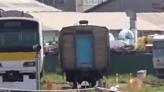 令和元年6月1日、解体線に485系「宴」1両残り工場も重機も稼働してない、長野総合車両センター。