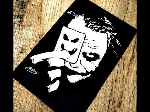 87da80cc9c84d ... Lord Krishna - Stencil Art - Art Maker Akshay. How To Draw The Joker    Joker Silhouette Drawing   Joker