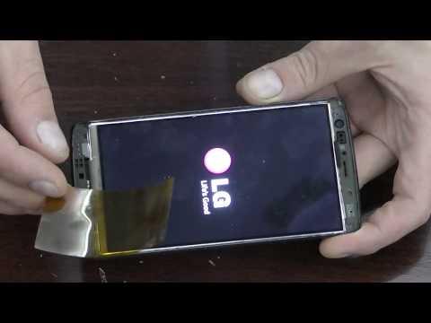 Как снять сенсор (тачскрин) смартфона LG-D724 без нагрева.