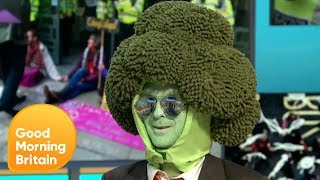 Piers and Susanna's Awkward Interview With Climate Change Activist Mr Broccoli | GMB