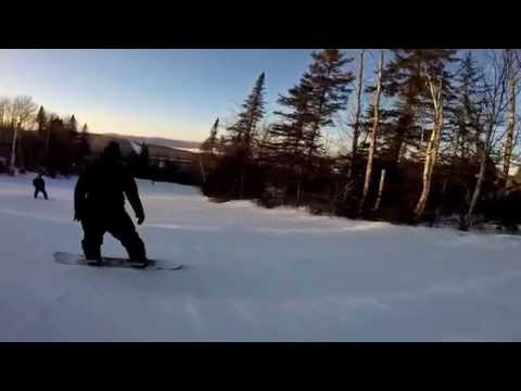 Downhill Skiing at Surgarloaf, New Brunswick (HD)