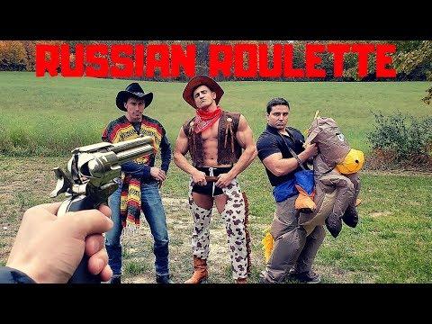 Painful Revolver RUSSIAN ROULETTE   Bodybuilder VS Red Dead Redemption 2 Airsoft Gun Challenge