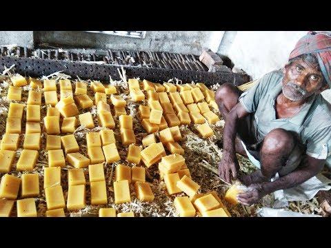Jaggery Making With Farm Fesh Sugarcane Juice In My Village | Making Of Gurr | Bellam | Panela