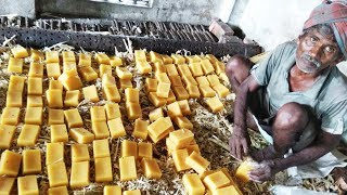 Jaggery Making With Farm Fesh Sugarcane Juice In My Village | Making Of Gurr | Bellam | Panela