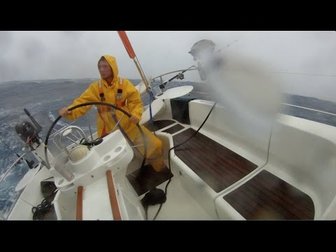 Sailing in Big Storm Between Tahiti and Samoa