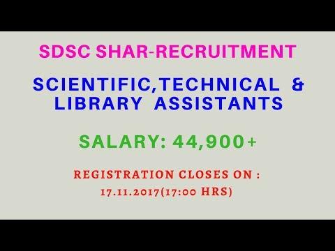 Satish dhawan space center Recruitment Notification 2017