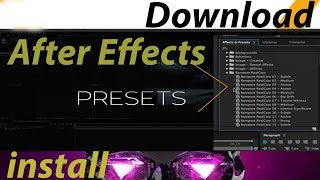 How to Download & Install Plugin After Effects Presets