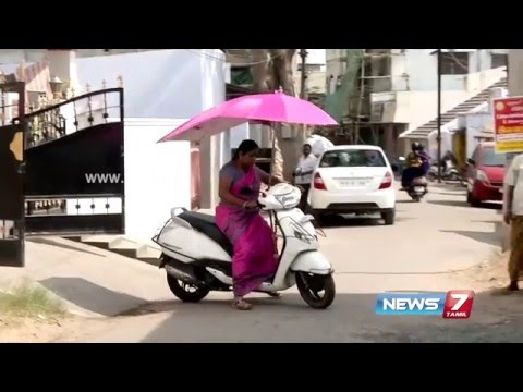 Two wheeler with umbrella on to beat the heat at Coimbatore | News7 Tamil