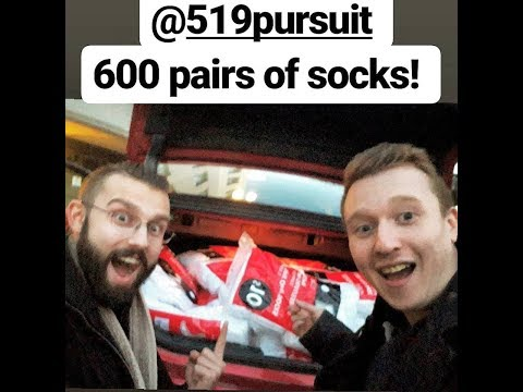 Buying 600 Pairs Of Socks From Walmart | 519Pledge | 519Pursuit | London, Ontario
