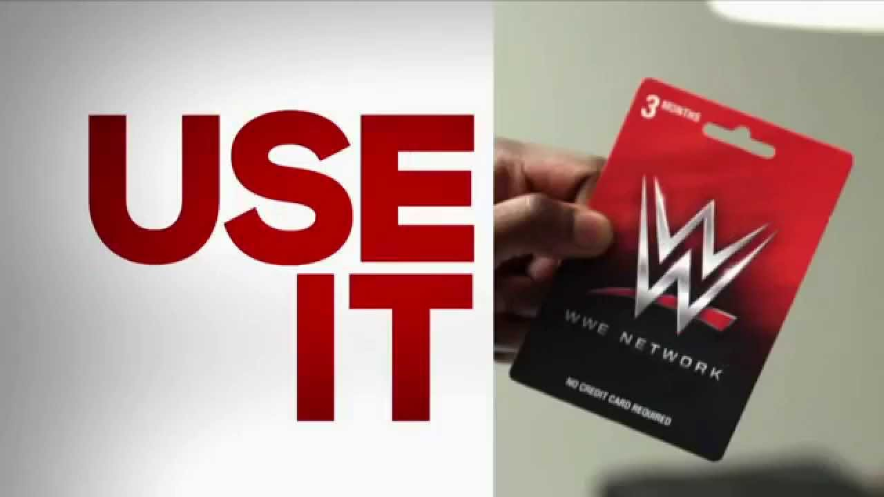 WWE Network Gift Card Commercial - YouTube