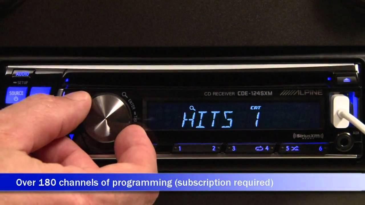 alpine cde 124sxm cd receiver display and controls demo rh youtube com alpine cde-124sxm manual Alpine CDE 124SXM Remote Control