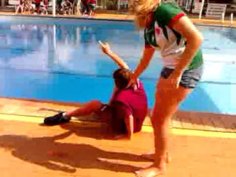 PUSHED IN THE POOL PRANK! - YouTube