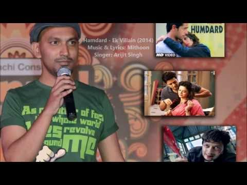 Hamdard - Ek Villain (Cover) sung on a Karaoke track  - Tony Fernandez