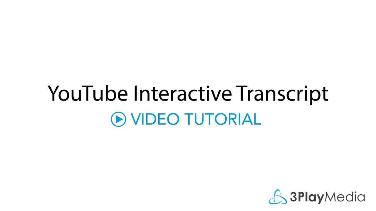 YouTube Interactive Transcript and Captions Plugin
