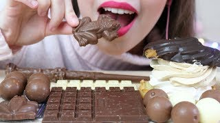 ASMR BIG PROFITEROLES, CHOCOLATE FROGS & CANDY (CHEWY Eating Sounds) No Talking