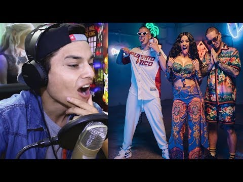 Cardi B, Bad Bunny & J Balvin - I Like It [Official Music Video] Reaccion