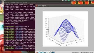 3D Plot (and Animation) using Meshgrid on Python in Ubuntu - YouTube