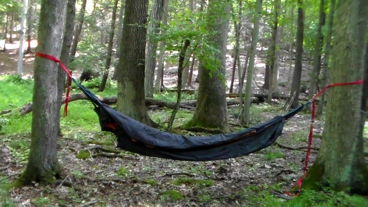 cold weather hammock setup using a mummy bag   youtube  rh   youtube