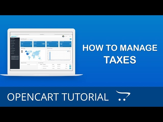 How to Manage Taxes in OpenCart 3.x