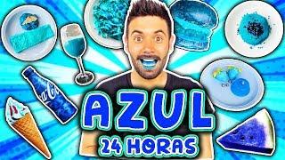 24 HORAS COMIENDO AZUL 😰
