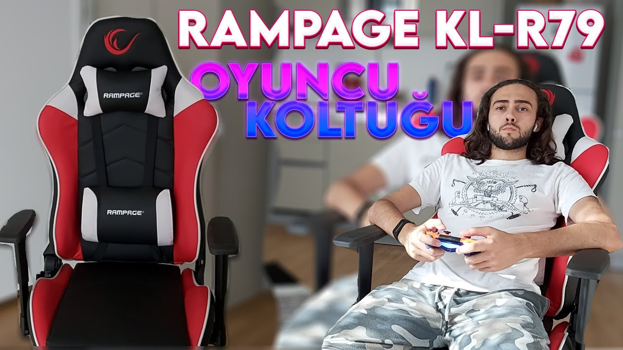 Yatak Olabilen Oyuncu Koltugu Ps4 Pc Rampage Kl R79 Youtube