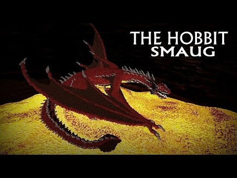 Minecraft The hobbit Smaug Dragon build review  YouTube