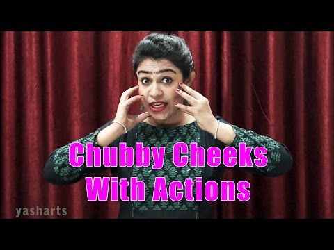 Chubby Cheeks Dimple Chin With Actions |...