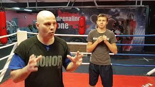 Обучении боксу. Начальный этап.