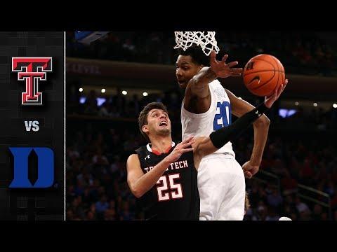 Texas Tech vs. Duke Basketball Highlights (2018-19)