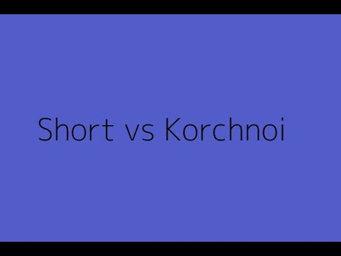 Famous Chess Game: Short, N. vs Korchnoi, V. | Zagreb-1987