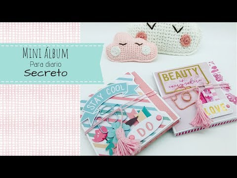 Mini álbum, muy fácil, para diario secreto