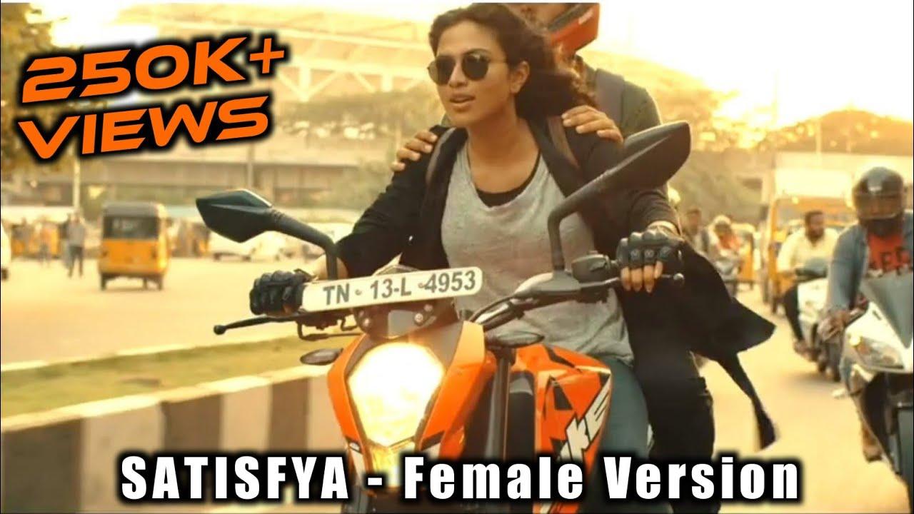Satisfya Female Version | Imran Khan | Bike Ride | WhatsApp Status | Tamil | Bore Time Editz