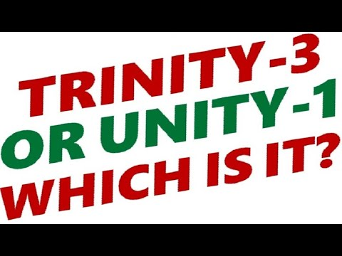 IS GOD THE CHRISTIAN TRINITY OR OF JEWISH UNITY - Which is it?