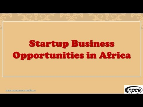 Startup Business Opportunities in Africa