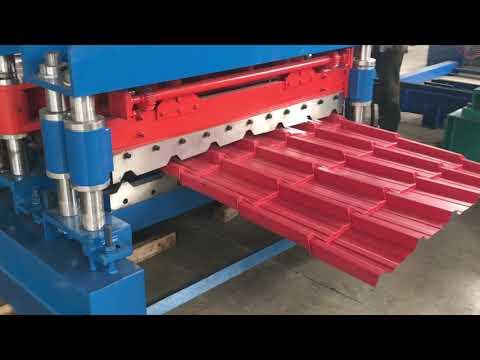 Metal Roofing Sheet Making Machine , PPgi Roll Forming Machine , Roofing sheet making Mcahinery