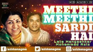 Meethi Meethi Sardi Hai | Lata Mangeshkar | Mohammad Aziz | Pyar Kiya Hai Pyar Karenge 1986 | AKN