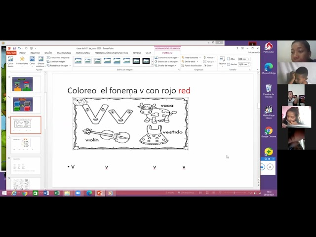 8/junio/2021.castellano.primero.semana 17.retroalimentacion fonema v.