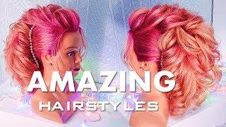 ПРИЧЕСКИ на ВЫПУСКНОЙ . Праздничная прическа на средние волосы💛  Amazing Hair Transformations