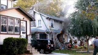 Fire Video with Audio, 723 9th Ave, Prospect Park, PA, 10 9 14