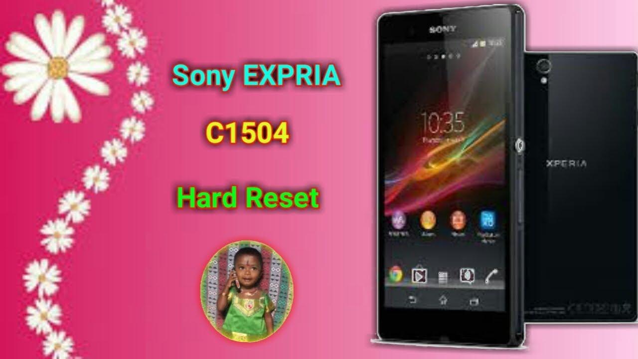 Sony EXPRIA C1504 Hard Reset
