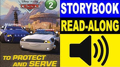 Cars Read Along Story book   Cars - To Protect and Serve   Read Aloud Story Books for Kids