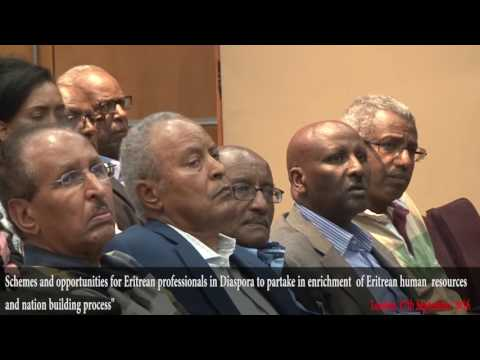 Presentation by Professor Tadesse Mehari – Executive Director of Higher Education in Eritrea.