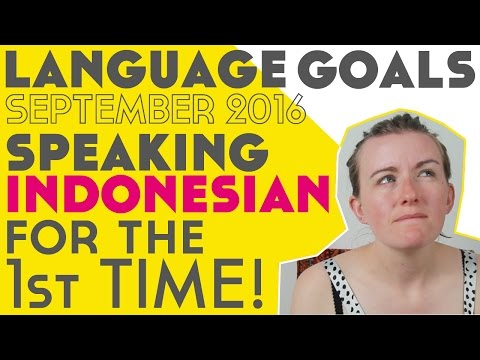 My First Attempt Speaking Indonesian - Language Goals September 2016║Lindsay Does Languages Video