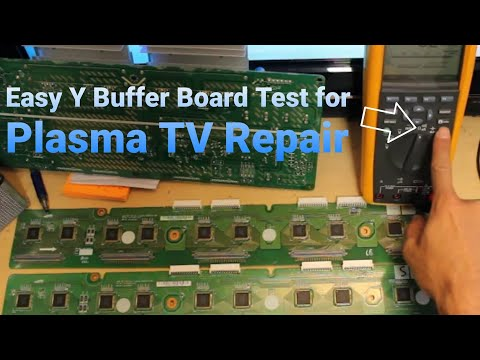 How to Test a Y Buffer Board Plasma TV FAST AND EASY - YouTube