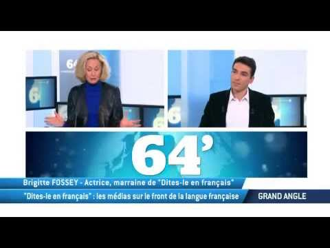"""""""Dites-le en français"""" : les médias sur le front de la langue française"""