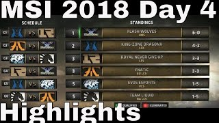MSI 2018 Highlights Day 4 ALL GAMES | Mid Season Invitational 2018 Group Stage Highlights