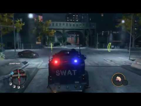 Saints Row The Third Vehicle theft contract walkthrough - Lockdown [HD] |