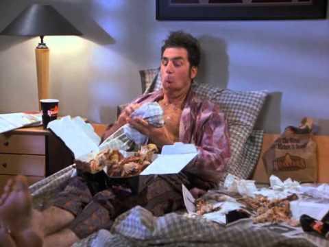 Kramer eating chicken youtube - Kamer dining ...