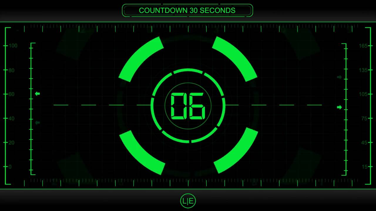 COUNTDOWN Timer 30 sec ( v 225 ) Clock with Sound Effects and ...
